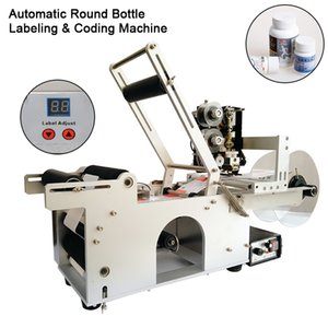 Free Shipping Via DHL! LT-50D Small Automatic Sticker Round Bottle Labeler Tube Can Customized Labeling Machine