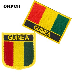 Free Shipping Guinea Flag Embroidery Iron on Patch 2pcs per Set PT0081-2
