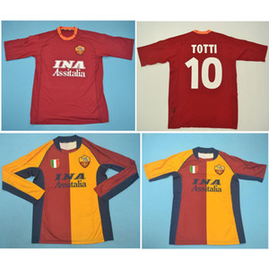 Top 00 camisa de futebol 01 02 Roma Retro camisas de futebol TOTTI 2000 2001 2002 Batistuta camisa clássico de Roma maillot de pé
