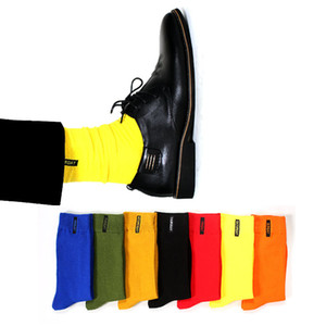 7 Pairs / Lot Moda Candy Color Semana Calcetines Algodón Sólido Hombres Happy Socks Anti-bacterial Cómodo Desodorante Casual Niños Calcetines MX190719