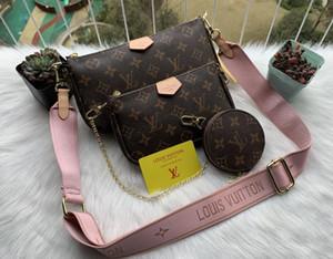Sıcak satış moda çanta cüzdan Kadınlar favori mini poşet 3adet aksesuarları crossbody çanta vintag omuz çantaları deri çoklu renk askıları
