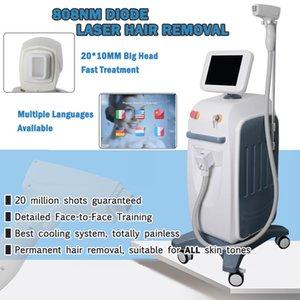 CE aprovado 808nm rápido laser de diodo a laser indolor equipamento de depilação para mulheres e homem vertical, depilação a laser