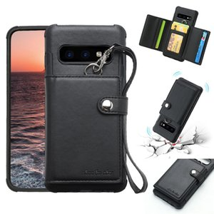 For Galaxy S10e Shockproof PC + TPU Protective Case, with Card Slots & Wallet & Photo Frame & Lanyard