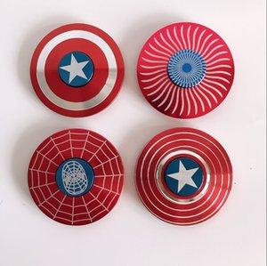 Rainbow Metal Fidget Spinners Hand Spinner Reduce Stress Autism Sensory Toys For Children Gift Fingertip Gyro Captain America