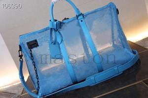 4 ألوان العلامة التجارية الرجال keepall ل50 55 مصمم الرياضة حمل bandouliere شبكة النسيج إمرأة حقائب السفر حقيبة الأمتعة الرجال newc539 #