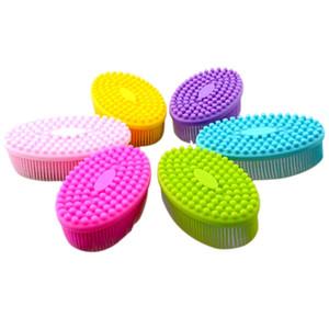 سيليكون فرشاة الجسم تدليك الجسم فرش حمام منتجات التنظيف الكبار الأطفال على حد سواء مناسبة لينة لا تسليط 7 5ws B2