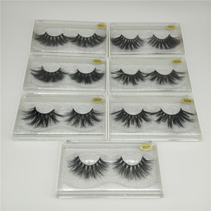 Sıcak YENİ 25mm 5D Vizon Kirpikleri Moda Stil 3D Yanlış Eyelashes Doğal Uzun Vizon Göz Lashes Göz Makyajı Yüksek Hacim Yumuşak Kirpik