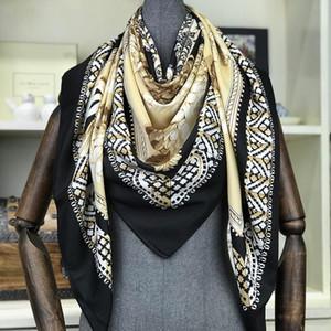 luxo- 2019 New Designer Cachecóis Melhor Presente 130 * 130 centímetros Grande lenços quadrados e Xailes Wraps Hijabs Pashmina Silenciador Inverno Praia encobrimento Neck