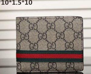 Mode Paris Style écossais célèbre designer portefeuille mens portefeuille des hommes de luxe spéciale toile multiple courte petit portefeuille