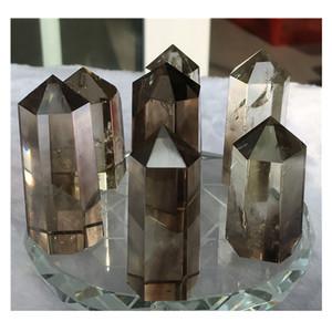 Ihomee Brown Feng Shui Chiaro Bacchette Campione di Guarigione Naturale Pietre E Minerali Cristalli di Quarzo Home Decor Regalo Trasporto di Goccia C19041101