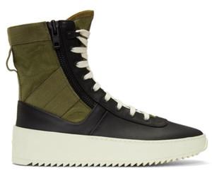 Дизайнерская мода класса люкс 2019 мужская марка Fear of God Лучшие военные кроссовки Hight Мужская и женская модная обувь Martin Boots размер 38-46