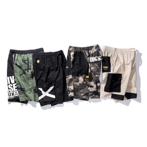 Mens Summer Cotton Breathable Shorts Fashion Cargo Street Hip Hop Short Pants Knee Length Casual Male Clothing