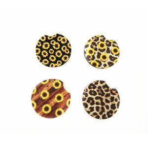 6,5 centimetri in neoprene sottobicchiere stuoia della tazza titolare tazza di caffè Coaster girasole Pads Rainbow Colors Mat per decorazione della Tabella tazze auto Pad A03