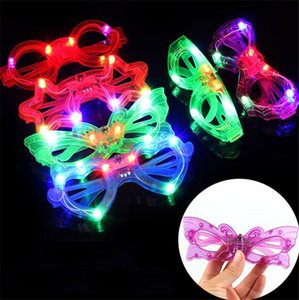 LED Light Glasses Plastic Glow LED Glasses Light Up Kids Party Celebration Toys Neon Show Christmas party birthday Glasses props