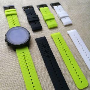 Bracelet de montre en caoutchouc pour Suunto 9 Bracelet de bracelet en silicone 24x