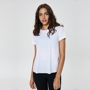 camisa Quick Dry T Gym T-shirt femininas LU-86 sólido macio Sports Tops Mulheres Yoga Top Women Shorts Sleeve Yoga Shirts respirável
