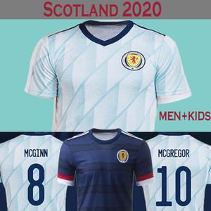 Maillot de football Ecosse 2020 Hommes + Enfants Maillot de foot écossais Soccer Jersey 2020 ROBERTSON FRASER NAISMITH MCGREGOR CHRISTIE FORREST MCGINN Maillot