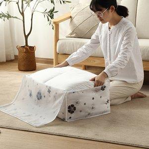 almacenamiento colcha impresa bolsa de ropa para el hogar grande a prueba de humedad del yin hua zi dai dai bei edredón bolsa de acabado