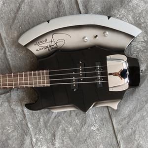 Freie Shipping5 Strings Ax E-Bass mit Unterschrift, Palisander Griffbrett, No Inay, Chrome Hardwares und bietet maßgeschneiderte Dienstleistungen
