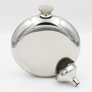 150 ml Paslanmaz Çelik Cep Şişesi Taşınabilir Açık Flagon Simli Viski Stoup Şarap Pot Alkol Şişeleri Huni ile HHA567