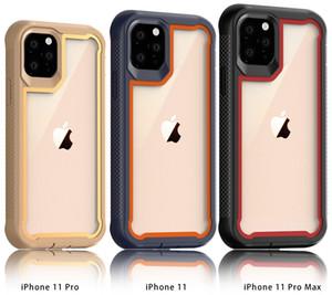 El caso más nuevo teléfono celular reforzado cristal del robot para el iPhone 12 11 Pro Plus Max 7 6s 8 XS Max X XR Acrílico Volver Proetective Defensor cubierta