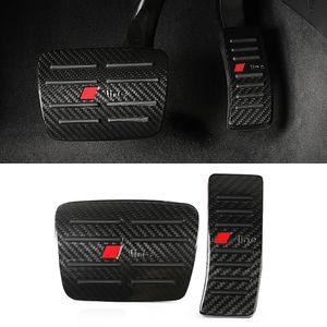Não-deslizamento de carro não-perfuração Pedal Pedal Combustível Combustível Pedal Acelerador Cobertura Caso Pad Moldura para Audi A4 A5 A6 A7 A8 Q5 Q7