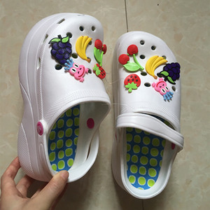 Hot Sale-ls Clogs Mules EVA 2019 Summer Flip Flops Beach Garden Shoes Fashion Slippers Outdoor Platform Chinelo Feminino
