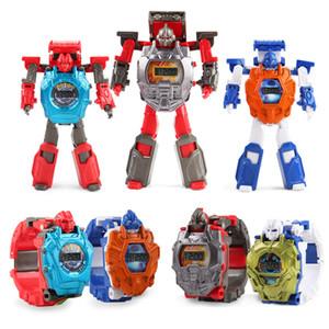 16cm Trans Roboter Uhr-kühle Legierung Uhr-Länge verstellbar Armband-Kind-Kind-Spielzeug-Geschenk 4 Farben LA330