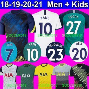 Lilywhites 2020 2021 Tottenham Hotspur BERGWIJN HARRY KANE Maglia da calcio a 3 via verde SON Heung-Min Son maglia da calcio bianca a trasferta bianca di casa LAMELA DELE ALLI