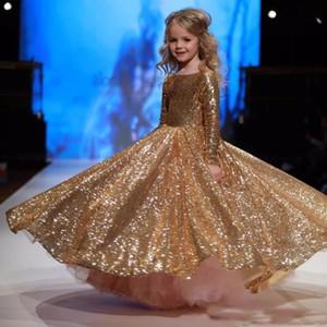 Neue Ankunfts-Blumen-Mädchen mit Perlen verziert SpitzeAppliques O-Ansatz Tulle-Ballkleider Kleine Mädchen Brautkleider Prinzessin Kleider