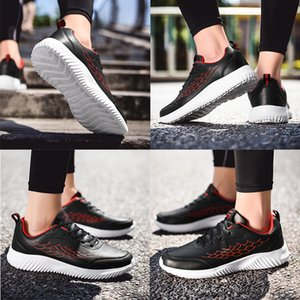 Wholesale mens running shoes Black White Red Leather sport shoes mens trainers sneakers Homemade Brand Made in China size 39-44