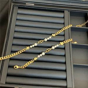 Cd Письмо Жемчужное ожерелье Luxury Star Clover Дизайнерские Браслеты Подвески Женщины Фирменное Ожерелья Престижное комплекты ювелирных изделий