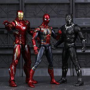 Avengers Infinity Savaş Örümcek Adam Siyah Panter Demir Adam Action Figure Oyuncak Q190604
