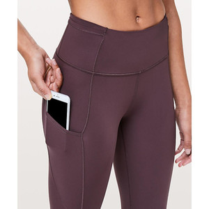 "Hot Sale Wholesale Women's Lu|u|emon Yoga Jogger Fast & Free 7 8 Tight II Nulux 25"" Pants Legings Gym Pant"