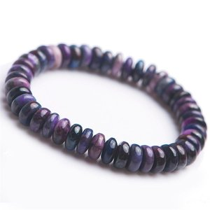 Genuine South African Natural Sugilite Gemstone Crystal Abacus Bead Stretch Natural Stone Bracelets For Women Femme