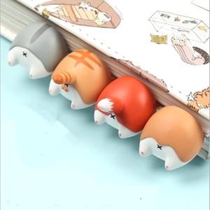 Dog 1pcs encantador dos desenhos animados Cat Hamster Ass Bookmarks presente Criativa para Crianças Escritório Escola Fontes Novidade Artigos de papelaria bonitos