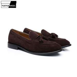 Casual Mocassins Chaussures Hommes 2019 Suede main Homme Driving Chaussures bateau Tassel Bureau de mariage Mode Sapatos Hot Chaussures Zapatos