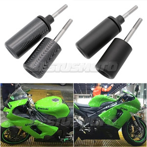 Мотоцикл BlackCarbon No Cut Frame Sliders Crash Falling Protection For Ninja ZX6R ZX-6R ZX 6R ZX636 2005 2006