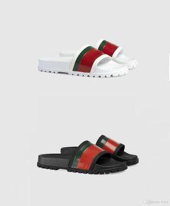 2020 Новые тапочки моды Аутентичные слайд Цветочные парчи Резиновый мужские тапочки Зубчатые кубовый полосатый тканый Бич причинная Sandal