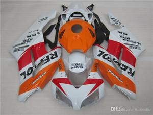 molduras originales libres 6 regalos carenado kit para Honda CBR1000RR 2004 2005 carenados blancas naranja conjunto CBR1000RR 04 05 OT16