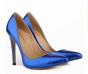 Fashion crocodile grain High heels pu leather plaid Hot sale Women Pumps pointed toe Dress shoes slip on increased