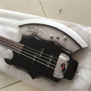 무료 배송 사용자 정의 희귀 4 문자열 유전자 시몬스 GS-AXE-2 저음 서명 전기 Gitar 저음 재고 판매