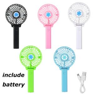 Taşınabilir Mini USB Fan Havalandırma Katlanabilir Klima Fanları El Düzenlenen Soğutma Fanı Şarj Edilebilir Fanı pil dahil