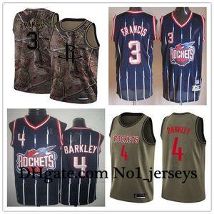 Mulheres Houston Femininos PersonalizadoRockets3 Steve Francis 4 Charles Barkley Red Throwback Basketball EdiçãonbaJerseys