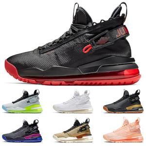 JORDAN PROTO-MAX 720 Jumpman Мужчины баскетбол обувь Gym красный неон Gradient Pure Platinum Фиолетовый и Royal Gold и черные кроссовки размер 40-46