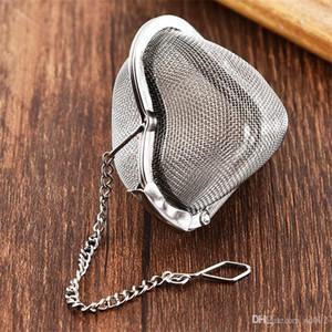 Tè a forma di cuore Teas Maker Tè in acciaio inox Infusore Creative Home Life Supplies Catenaccio Strong Durable 3 5cfC1