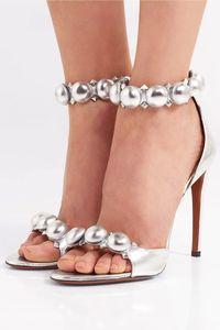sliver women summer wedding party sandals high heeled shoes rivets ladies fashion cat walk dress sandals female design pumps sandals zapatos