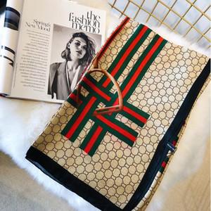 2019 Nouvelle marque écharpe longue châle automne S designer foulard grille foulard en soie imprimée pour les femmes 180 * 90 cm # 264