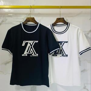 Yeni kısa kollu yaz PALM AÇISI çift iplik BOYUT kısa kollu t-shirt576 AŞIRI 230 gr kumaş kadın ve erkek moda severler tek taraflı