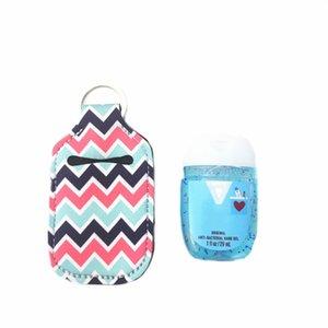 28 Style Key Rings Hand Soap Bottle Holder Neoprene Hand Sanitizer Bottle Holder Keychain Bags 10*6CM Customized Service